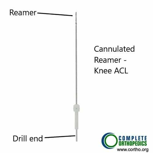 Instruments used to drill the tunnel in ACL reconstruction.